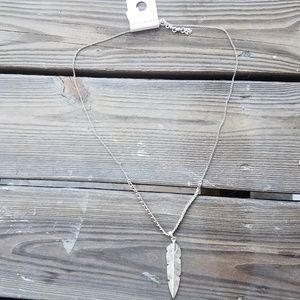 Lucky Brand Jewelry - NWT Lucky Brand Feather Pendant Necklace